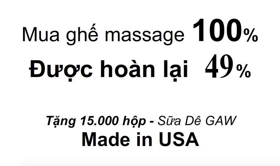 hãng ghế massage nào yêu thuơng khách hàng nhất