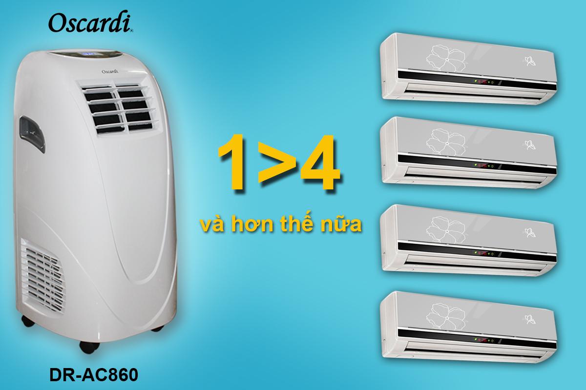 máy điều hòa di động Oscardi AC860 là một sản phẩm rất cơ động, một ý tưởng tuyệt vời và siêu tiết kiệm thông minh !