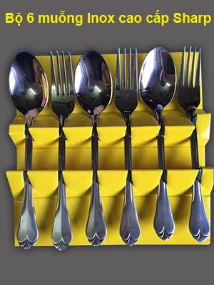 Bộ muỗng nĩa inox cao cấp Sharp